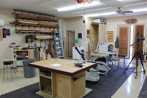 Woodworking Shop Layout Design With Stools