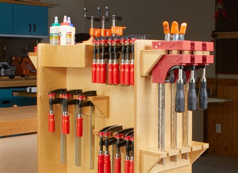 Woodworking Wood Clamp Storage Cart