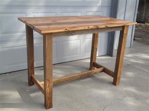 Woodworking-Plans-Bar-Height-Table