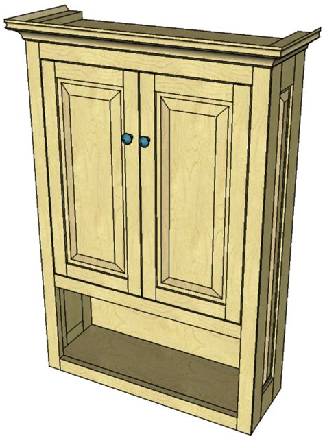Woodworking-Plans-Bathroom-Wall-Cabinet