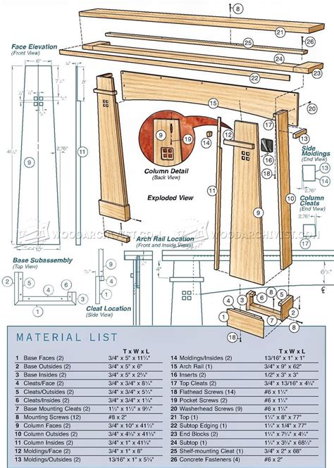 Woodworking-Plans-For-A-Mantel