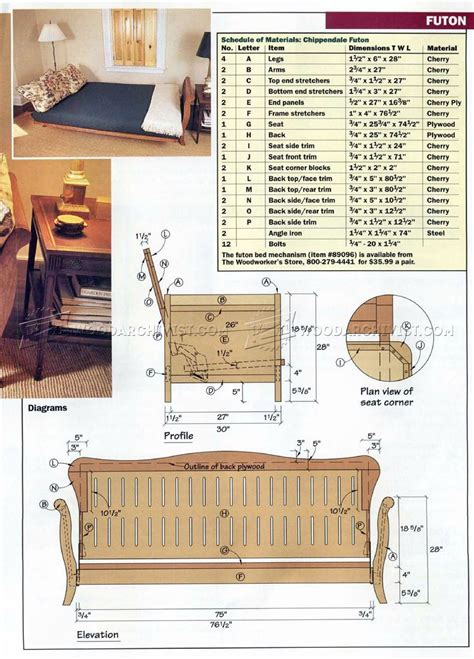 Woodworking-Plans-For-Futon-Frame