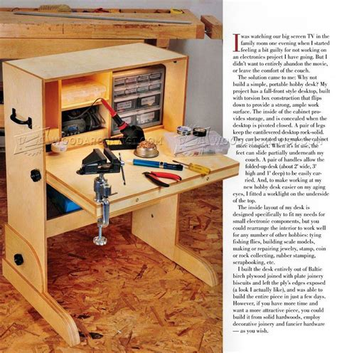 Woodworking-Plans-For-Hobby-Desk