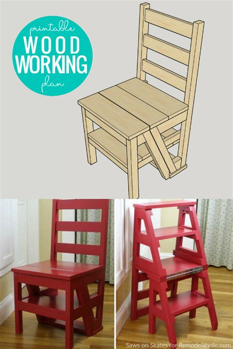 Woodworking-Plans-For-Ladder-Chair
