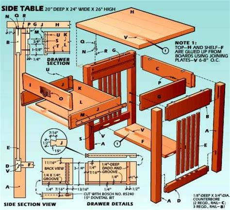 Woodworking-Plans-For-Side-Tables