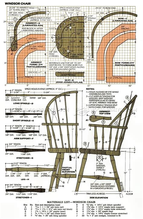 Woodworking-Plans-For-Windsor-Chair