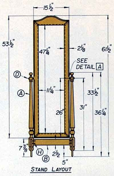 Woodworking-Plans-Free-Standing-Mirror