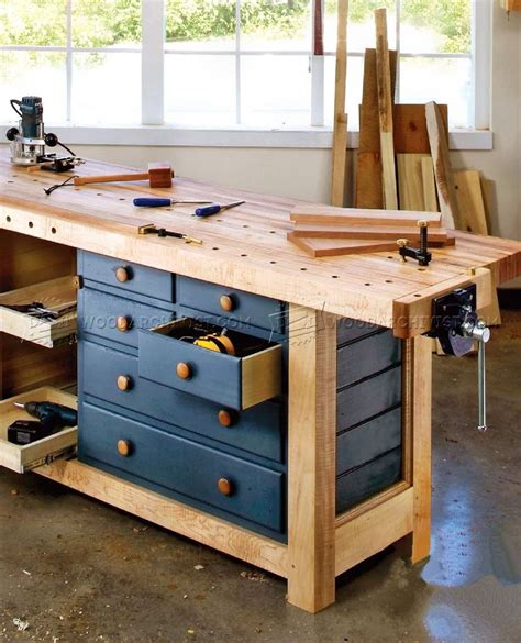Woodworking-Workbench-Plans-Shaker