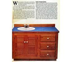 Best Woodworking plans for bathroom vanity