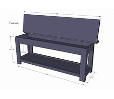 Best Woodworking plans storage bench