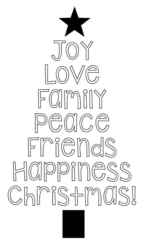 Word Art Christmas Templates