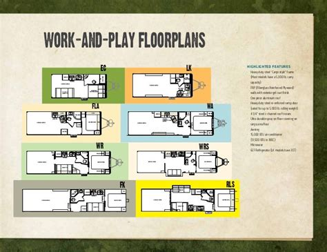 Work And Play Toy Hauler Floor Plans