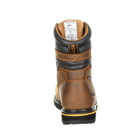 Work Boots Mens Governor Durable Laced Waterproof Brown RKK0243