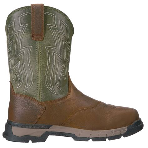 Work Men's Rebar Flex Western H2O Work Boot, Rye Brown, 13 D US