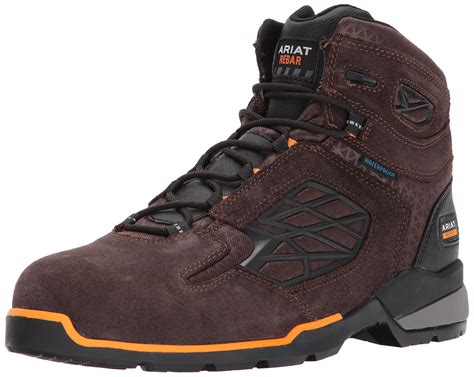 Work Men's Rebar Western H2O Composite Toe Work Boot, Chocolate Brown, 8 E US