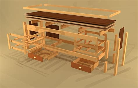Work-Bench-With-Drawers-Plans