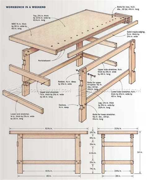 Workbench Drawing Plans