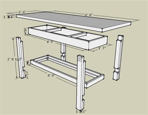 Workbench Plans Sketchup Free