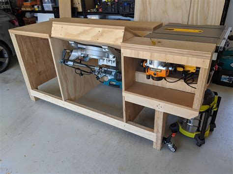 Workbench-Plans-With-Miter-Saw