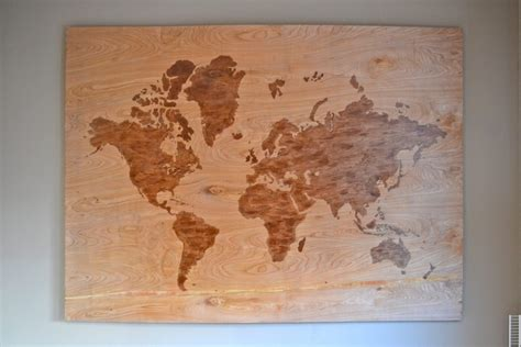 World Map On Wood Diy Small