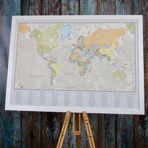 World-Map-Wedding-Table-Plan