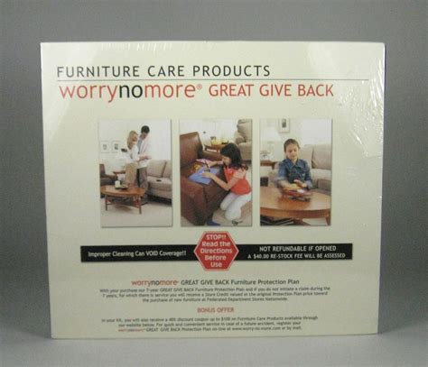 Worry No More Furniture Protection Plan