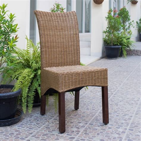 Woven Wicker Dining Room Chairs