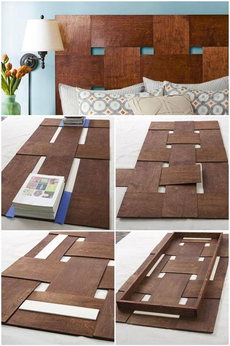 Woven Wood Headboard Diy