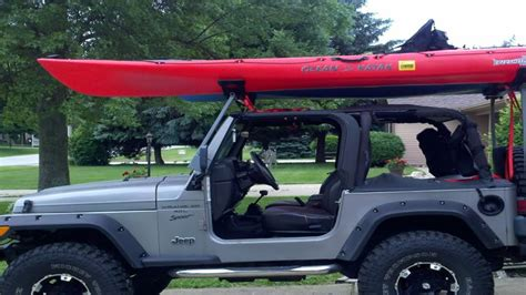 Wrangler Soft Top Kayak Rack Diy Garage