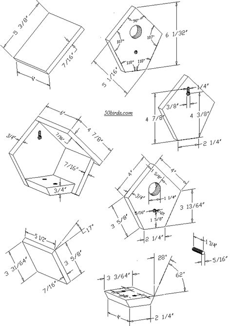 Wren And Chickadee Bird House Plans