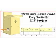Best Wren bird house plans free