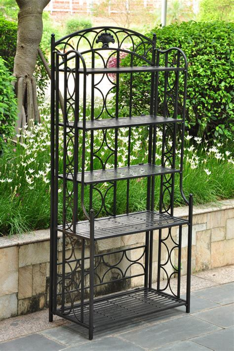Wrought Iron Bakers Rack Plant Stand