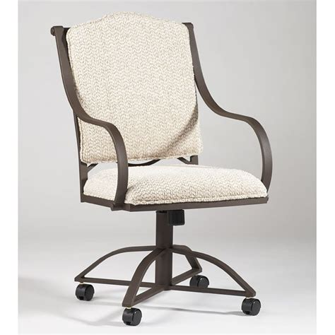 Wrought Iron Castor Kitchen Chairs