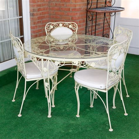 Wrought Iron Dining Chairs And Table