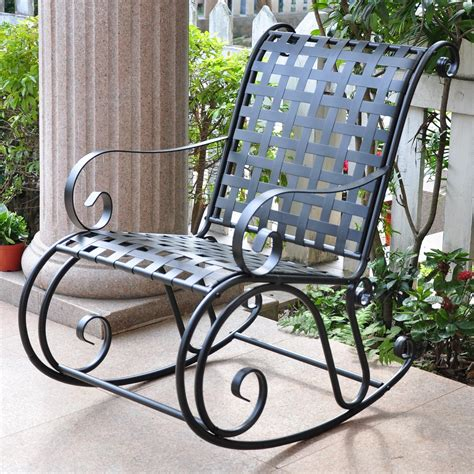 Wrought Iron Garden Rocking Chairs