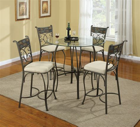 Wrought Iron Kitchen Bench Chairs