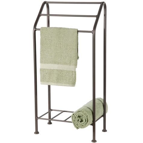 Wrought Iron Stand Alone Towel Rack