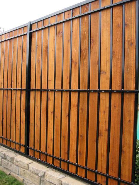 Wrought-Iron-Fence-With-Wood-Slats-Diy