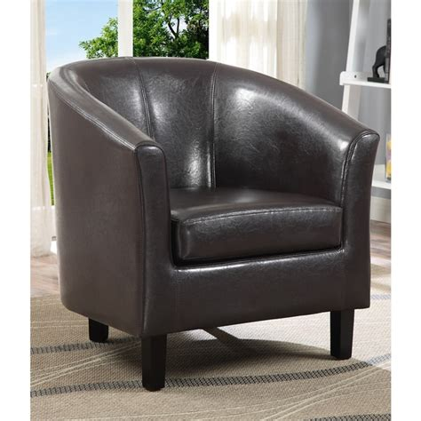 Wyndenhall Parker Faux Leather Accent Tub Chair