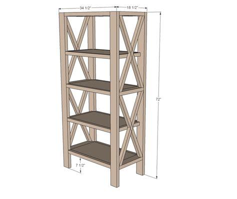 X-Bookshelf-Plans