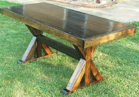 X-Brace-Farm-Table-Plans