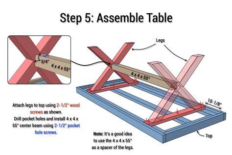 X-Leg-Table-Plans