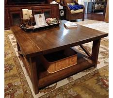 Best X coffee table rustic