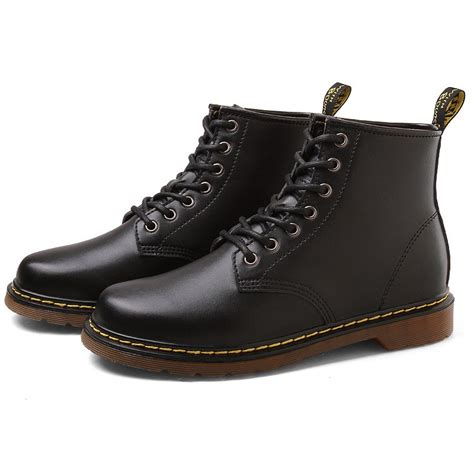 X1812-3 inches Taller - Height Increasing Elevator Shoes (Black Leather Lace-up Ankle Boots)