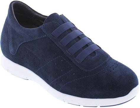 Y1031-2.4 inches Taller - Height Increasing Elevator Shoes - Navy Blue Fashion Sneakers