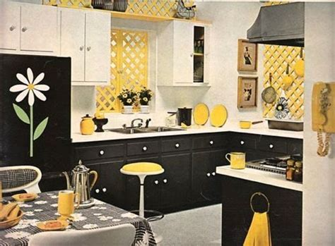 Yellow Black White And Red Kitchen Designs