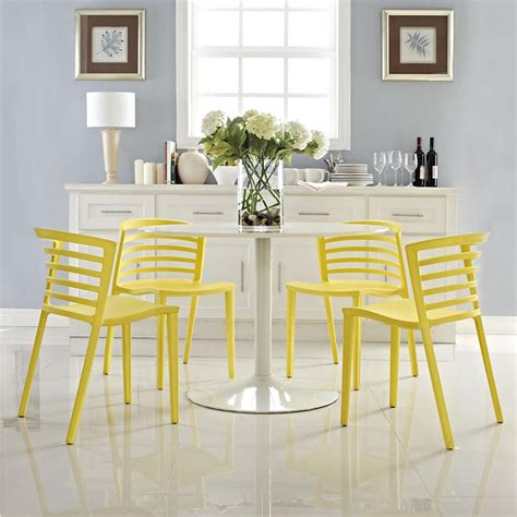 Yellow Or Turquoise Ergonomically Dining Chairs