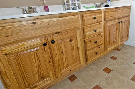 Yellow Pine Cabinets Images