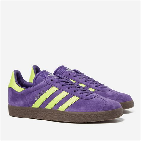 Yellow Purple Adidas Sneakers