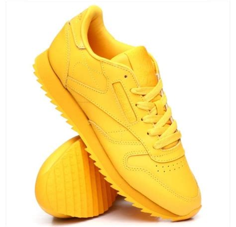Yellow Reebok Sneakers